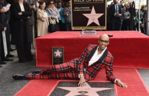 HOLLYWOOD, CA - MARCH 16:  Drag queen RuPaul is honored with a star on The Hollywood Walk of Fame on March 16, 2018 in Hollywood, California.  (Photo by Amanda Edwards/Getty Images)